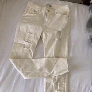 Zara white ivory jeans